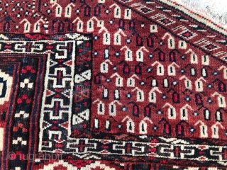 Antique Turkmen, Yomud, Prayer Rug 1900.