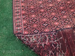 Soumack,(Kilim) Yomut Turkmen 290 x 180 Cm. In perfect condition.