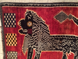south Persian lion rug Size 210 by 148 cm