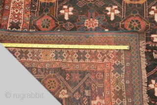 13093 Antique Varamin Carpet 310x145cm, Circa 1890.Rare example of an antique Varamin carpet woven on wool. Varamins of this ilk are woven on horizontal looms and they are usually long and narrow  ...