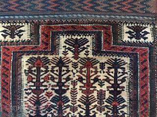 Baluch Prayer Rug, as found. Restorable.