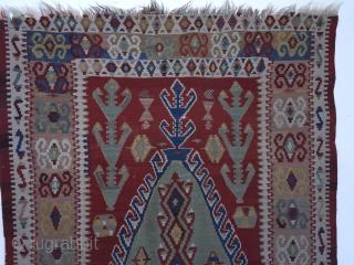 antique konya argithan village prayer Kilim 19th Century Obruk Design size 240 cm x 130 cm very rare prayer Kelim good condition questions please ask a similar example off that Kilim Powell  ...