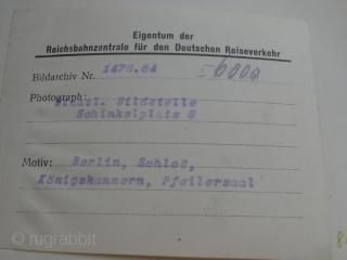 Staatliche Bildstelle Berlin 1921-1930 original photo serapi rug