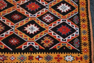 old Ait Ouaouzguite Berber pile rug from south Morocco