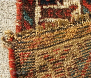 """2' 4"""" x 2' 6"""" Persian bagface in good pile condition.  Free Ship/U.S.  3 day returns policy."""
