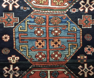 """3' 9"""" x 4' 7"""" North Caucasus Region in very good condition throughout and with no synthetic dyes.  Price Includes Shipping/U.S.    3 Day Returns."""