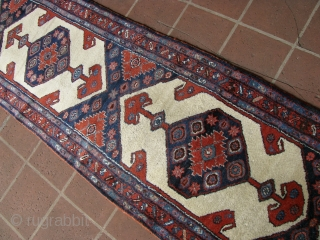 """3' 0"""" x 13' 9"""" Northwest Persian in great pile condition.  One small area of clumping and one spot of moth trailing."""