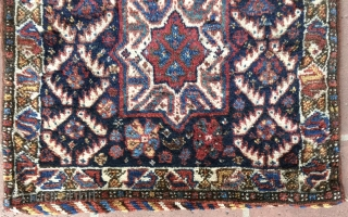 """2' 1"""" x 2'2"""" S.W.Persian/Basiri 1/2 Khorgin in excellent pile condition.  Minor moth spot damage. Quote includes shipping.  3 day returns policy."""