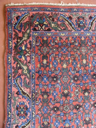 "1st Quarter 20th Century 4' 2"" x 6' 7"" Bijar in excellent condition throughout."