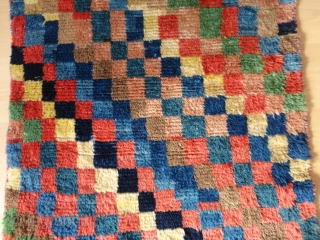 HAPPY   2020   Antique  and  rare  Bachtiari  longpile  Gabbeh  rug , zentral Persien ,   87 X 129  cm. Pile from  ...