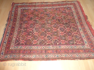 Antique  Afshar  19 th. century  135 X 154  cm.  Natural colours     kelim  ends , rare  pattern , one  small repair  ...