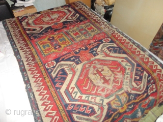 Antique  Lenkoran  about mid 19 th. century 106 X 230 cm.