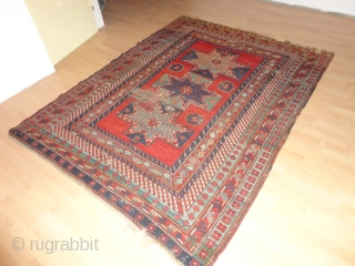 Antique  Archaic  Bortshalu  Star  Kasack 19 th. century 175 X 231 cm