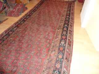 Antique  Khamseh   South- Persien  19 th. century  180 X 450  cm.