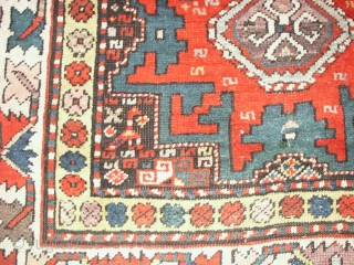 Antiker  Kaukasischer  Lesghi um 1900       ca. 124 X 168  cm. Oxydierter schwarz Braun          ansonsten  sehr guter  ...