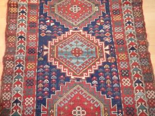 Antique  Kasak  rug  19  th. century  117 X 178  cm   Beautiful naturel  colours , classical dekorative  pattern ,   good   ...