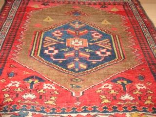 Antique  Bidjar  Wagireh / sampler rug  19  Jh. century  108 X 117 cm.     wool  foundation  ,  superb  natural  ...