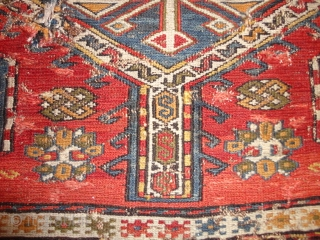 Antique  caucasien  sumakh  rug fragment 19 th. century  157 X 258 cm.