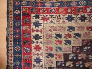 Superb  and very  rare antique  Bergama  prayer rug  mid. 19 th. century 103 X 135  cm.  komplete ,  beautiful colours , kelim shirazi and   ...
