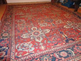 Antique  Ziegler Sultanabad   292 X 375  cm  Very  dekorative big pattern ,   with  superb  natural  colours  , komplet   ...