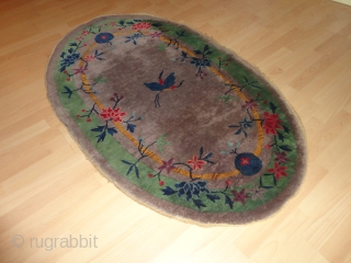 Antique  Nichols  China  rug  Art-Deco   1925   56 X 74  cm.