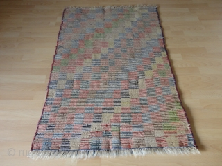 Superb  and  rare  antique  Bachtiari longpile Gabbeh rug  , Zentral  Persian ,    87 X 129  cm.  Pile from great shiny wool  ...