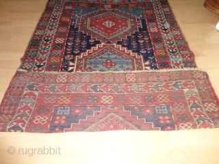 Colourful antique  beautiful Kasak  19 th. century , all  natural  colours ,    117 X 178  cm.  full  pile , good  condition  ...