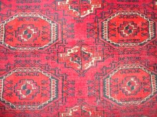 Fein  antique  Jomud  Turkmen  rug  132 X 196 cm.  All  natural  colours ,      rare  Salor  Gül ,  ...