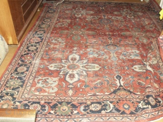 Antique  Ziegler  Mahal  West- Persien  292 X 375 cm. Very  dekorative  big pattern