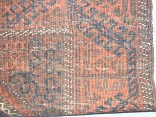 Superbe  antik  Belutch 19 th.  88 X 151 cm.     oxidate dark braun wool  otherweis in gut condition     with  ...