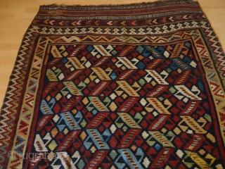 Superb  and  rare  fine antique  Waramin Kelim  round 1900  155 X 238 cm