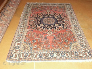 A rare nice example of an old Tafresh,West Persia         128 X 193 cm ; About 1900 with beautiful pastell colors       ...