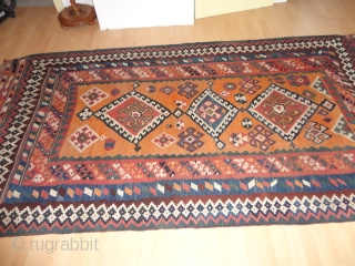 Fine  Antique  Quashkai  Kelim  round  1920  148 X 230  cm.