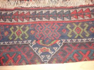 Superb  antique  Persian  Sanjabi  Jaff  Kurd  rug  19  th. century    110 X 209 cm. beautiful   natural  colours   ...