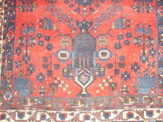 Unusual Afshar rug 136 X 165  cm , circa 1900