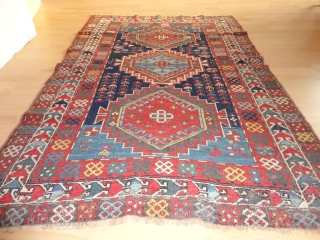 Antique  Kaukasien  Kasack  rug  19 th. century  117 X 178 cm. POR