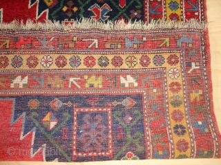 Superb  antique  Karrabagh  rug  19 th. century    178 X 267 cm.
