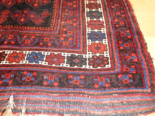 Fine  antique   Afshar   19 th.  century   117 X 140  cm.