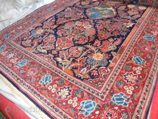 Amazing  antik  Kashan  Meditation  and Prayer  rug  central Persien