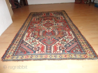 Antique  caucasien  Kasim  Ushak  Kasak  rug  19  th. century
