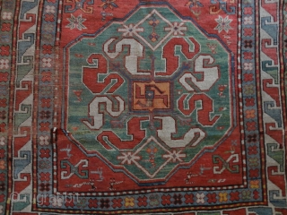 Antique  cloudband  Kasack  ( Chondoresk ) mid  19 th. century  127 X 194 cm.