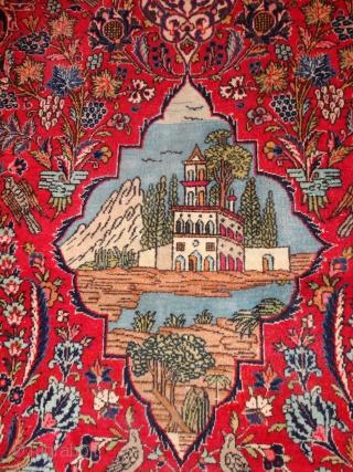 Very  fine   antique   Keschan  Meditation rug  ca. 130 X 201 cm.     Very  good  condition .