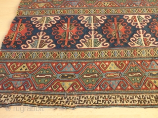 Unique  magnificent  antique  Shasawan double  Mafrash 114 X 153  cm.