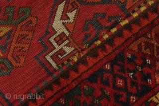 Turkmen Central Asian Carpet Antique     Age: More than 120 years old                  Size: 372x206  ...