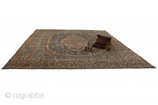 "Kerman - Lavar Persian Carpet 13'0""x10'0""(398cmx307cm)