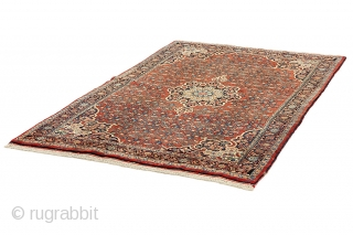 """Bijar - Kurdi Persian Carpet 7'5""""x4'7""""(227x141cm) See more details here: https://www.carpetu2.com/id/ant177-965908/Persian,Classic,Antiques,Offers,Bijar,Kurdi/?lan=int"""