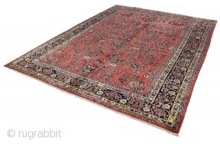 "Sarouk Persian Carpet 11'5""x8'8""(350x265cm) See more details here: https://www.carpetu2.com/id/cls005-898/Persian,Classic,Antiques,Offers,Popular,Sarouk,/?lan=int"