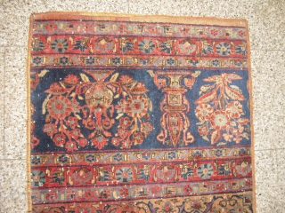 Kashan - Keshan Runner - made from an antique/old Gardencarpet - from 1900 - very soft wool - clean and unique with abrash - size: 313 cm x 70 cm - shipping  ...