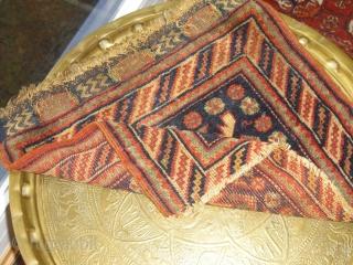Afshar bagface fragment - around 1900 - size: 48 x 52 cm