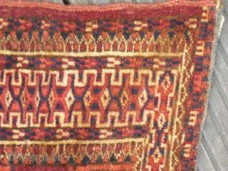 Antique (1910?) Tekke Torba - Old - size: 93 x 29 cm/ fair condition / one corner has been patched